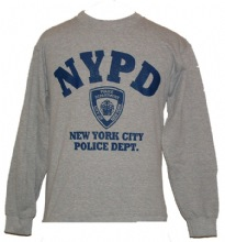 NYPD gym  Sweatshirt - Warm and comfortable, this heather gray NYPD sweatshirt f...