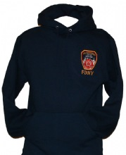 FDNY Hooded Sweatshirt with embroidered left chest and fdny on the back - fdny h...