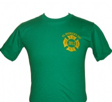 FDNY St. Patricks 2012 Irish T-shirt - FDNY symbol on the left chest. Printed ba...