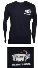 NYPD Highway Patrol Long Sleeve t-shirt - NYPD Highway Patrol car printed on lef...