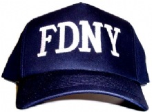 FDNY Adult Baseball cap, With White Initials - Embroidered FDNY Baseball cap