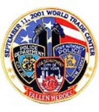 "September 11th Heroes Commemorative patch - Large 5"" Diameter"