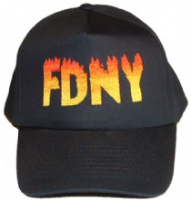 FDNY Adult Baseball Cap -- Flames With Orange Initials -  Famous cap that the NY...