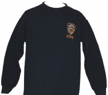 NYPD  Embroidered  patch  Adult Sweatshirt - With an embroidered NYPD patch on t...