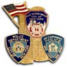 9-11 WTC & ALL THREE  Agency Patches Lapel Pin - 9-11 MEMORIAL  PIN WITH AL...