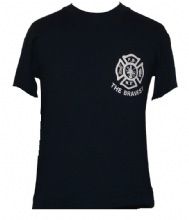 FDNY The Bravest maltese T-Shirt With Keep Back 200 Feet on Back Of The Tee - FD...