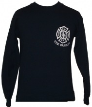 FDNY Maltese The Bravest Sweatshirt With Keep Back 200 Feet on The Back Of The S...