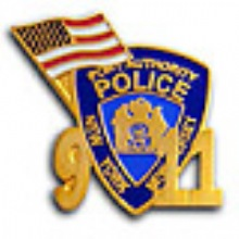 PAPD NEW YORK NEW JERSEY 9-11 Memorial Pin WITH PORT AUTHORITY PATCH AND FLAG - ...