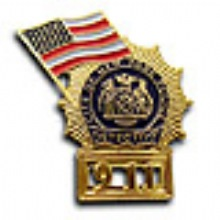 NYC  DETECTIVE 9-11 Memorial Pin WITH FLAG - 9-11 MEMORIAL NYC Detective Shield ...