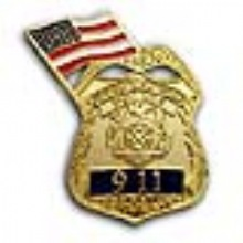 NYC  SERGEANT  9-11 Memorial Pin WITH FLAG - 9-11 MEMORIAL  Sergeant and Fl...