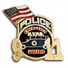 NYC NYPD ESU  9-11 Memorial Pin WITH FLAG - 9-11 MEMORIAL NYPD ESU and Flag Lape...