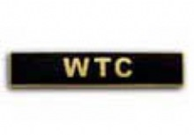 NYC PD FD PAPD 9-11 Memorial Pin - WTC Black / Gold Service Bar
