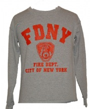 FDNY gym Sweatshirt - Heather gray sweatshirt features the official New York Fir...