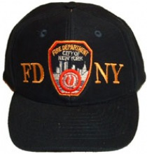 FDNY Embroidered SHIELD Cap - FDNY embroidered on this top-quality cap with clot...