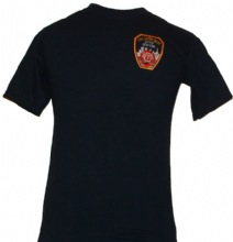 FDNY Patch Printed On Left Chest And FDNY Open Letters On Back Of The Tee - FDNY...