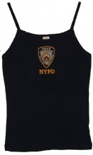 """Nypd Ladies  Embroidered """"Baby Rib"""" Tank Top - 100% cotton"""