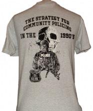 NYPD Adult Skull T-Shirt -