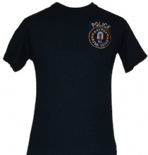 NYPD Bomb Squad Unit T-Shirt -- Embroidered Patch - Embroidered Patch on left ch...