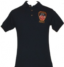 FDNY Embroidered Golf Shirt - Embroidered FDNY Official Patch on left breast.