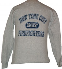 New York Bravest Firefighters Athletic Sweatshirt -