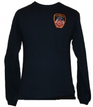 FDNY Scuba Marine Long Sleeve T-Shirt - FDNY Patch Embroidered on left chest and...