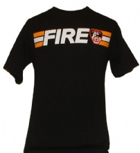 FDNY Fire Stripe  T-Shirt - fdny fire stripe tee shirt front and back design.
