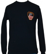 FDNY Sweatshirt with patch Printed on Left Chest And New York City Fire Depatmen...