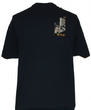 New York Police HIGHWAY PATROL  Motorcycle Unit 9-11-01 Embroidered T-Shirt -