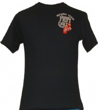 NYPD Embroidered PBA Boxing Team T-Shirt - Embroidered Left Chest & Screenprinte...