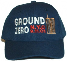Ground Zero - NYC - 9-11 Cap - Ground Zero, N.Y.C., 9-11 and the twin towers cap...