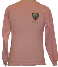 NYPD Ladies Sweatshirt - Pink nypd sweatshirt