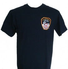 FDNY Patch Screenprinted On left chest And New York Fire Department Printed On B...