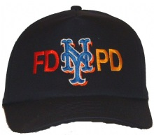 FD PD NEW YORK  Emboidered Baseball Cap - This quality black FD-PD new york cap ...