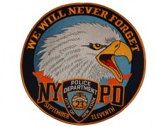 We Will never Forget patch - Embroidered patch. measures appx. 12 x 12