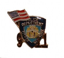 NYPD 9/11 Memorial Pin with american flag - NYPD 9/11 Memorial Pin with American...