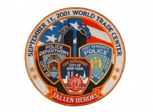 9-11 Memorial Fallen Heroes Patch - This large 9-11 memorial patch (12 x 12) com...