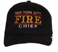 NYC Fire Chief Cap - Adjustable