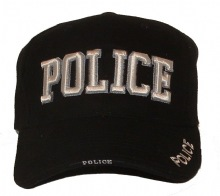 Police 3-d embroidered cap - Police embroidered in 3-d lettering. Also embroider...