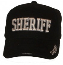 Sheriff 3D EMBROIDERED CAP - Sheriff embroidered in 3-D on cap, as well as addit...