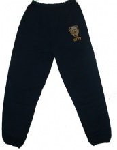 NYPD EMBROIDERD SWEATPANTS - navy sweatpants with the Nypd logo embroidered on l...
