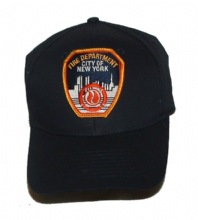 FDNY classic design cap - FDNY ballcap with embroidered patch. Adjustable back c...