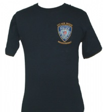 PAPD 9/11 Never Forget t-shirt - PAPD shield embroidered on left chest with &#34...