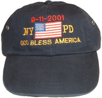 God Bless America, 9-11-01 PD Cap -