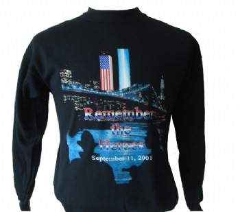Remember the Heroes 9/11 PD FD  Sweatshirt - Our exclusive memorial design. Featuring a memorial in honour of our heroes who perished on the tragic day in history.  This sweatshirt is a popular gift idea.