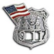 NYC 9-11 Memorial Pin WITH  FLAG - 9-11 MEMORIAL  Flag Lapel Pin