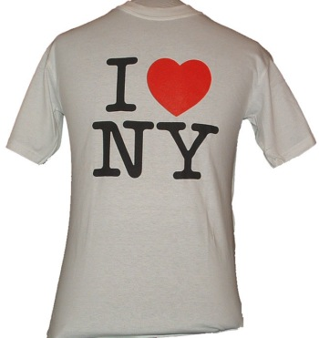 I Love NY T-Shirt - This is the one everyone wants. Let everyone know you love New York with this popular I Love New York t-shirt featuring the famous logo.  Top-quality, t-shirts.