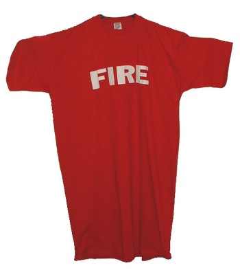 New York's fire dept  t-dress - great for the ladies to wear around the house