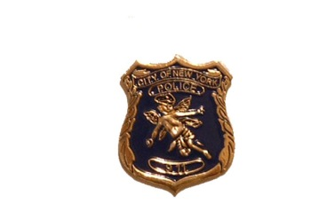 New york Police Angel Pin - City of New York with angel