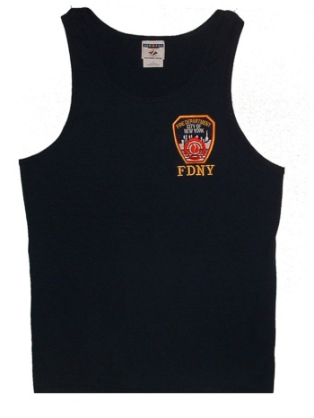 FDNY Tank top - Classic tank top with FDNY embroidered patch on left chest