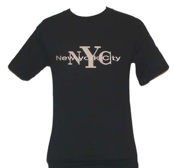 New York City EMBROIDERD T-shirt - nyc new york